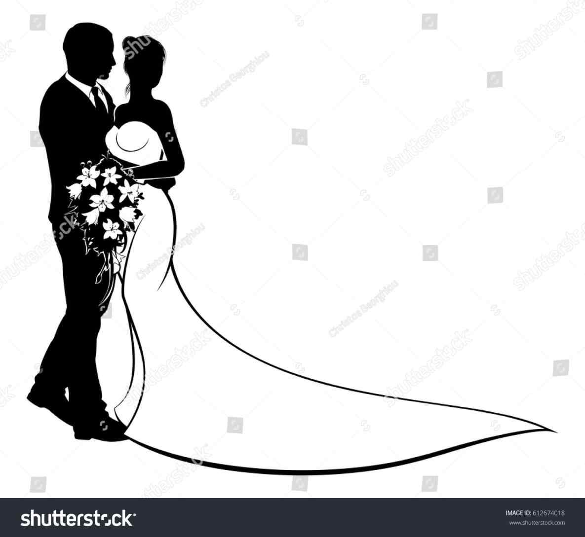 hight resolution of 1185x1089 bride groom silhouette png