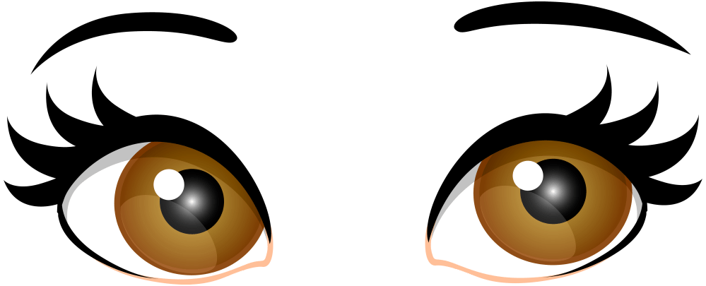 medium resolution of 7000x2837 brown female eyes png clip art