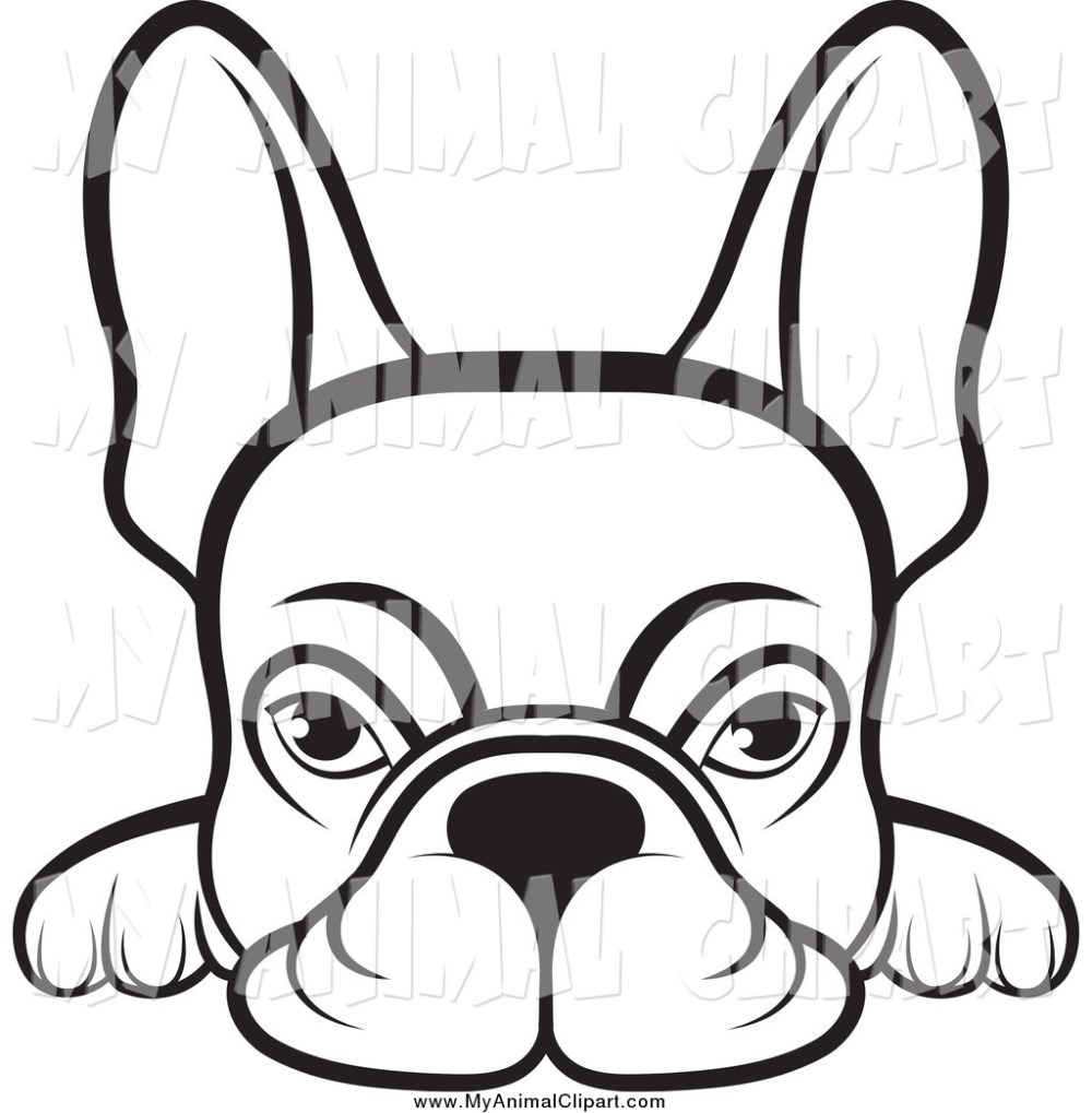 medium resolution of 1024x1044 clip art of a lineart frenchie dog looking over a surface by lal