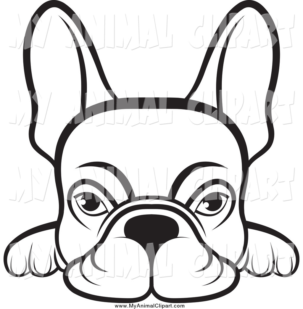 hight resolution of 1024x1044 clip art of a lineart frenchie dog looking over a surface by lal