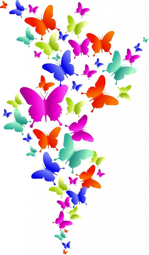 butterflies clipart border free
