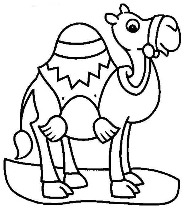 Sad Camel Coloring Page