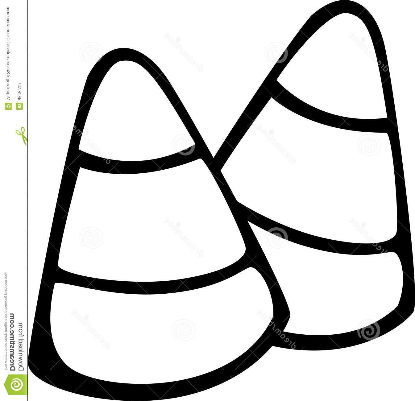 Candy Corn Clipart Black And White