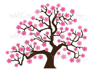 blossom clipart cherry tree sakura cartoon japanese flower branch silhouette blossoms royalty drawing vector clipartmag flowering getdrawings dumielauxepices