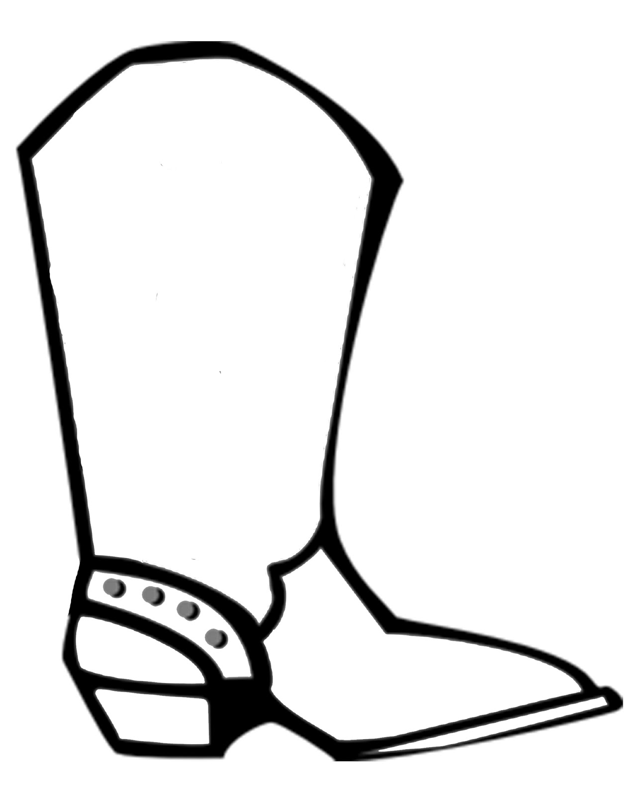 Cartoon Cowgirl Boots