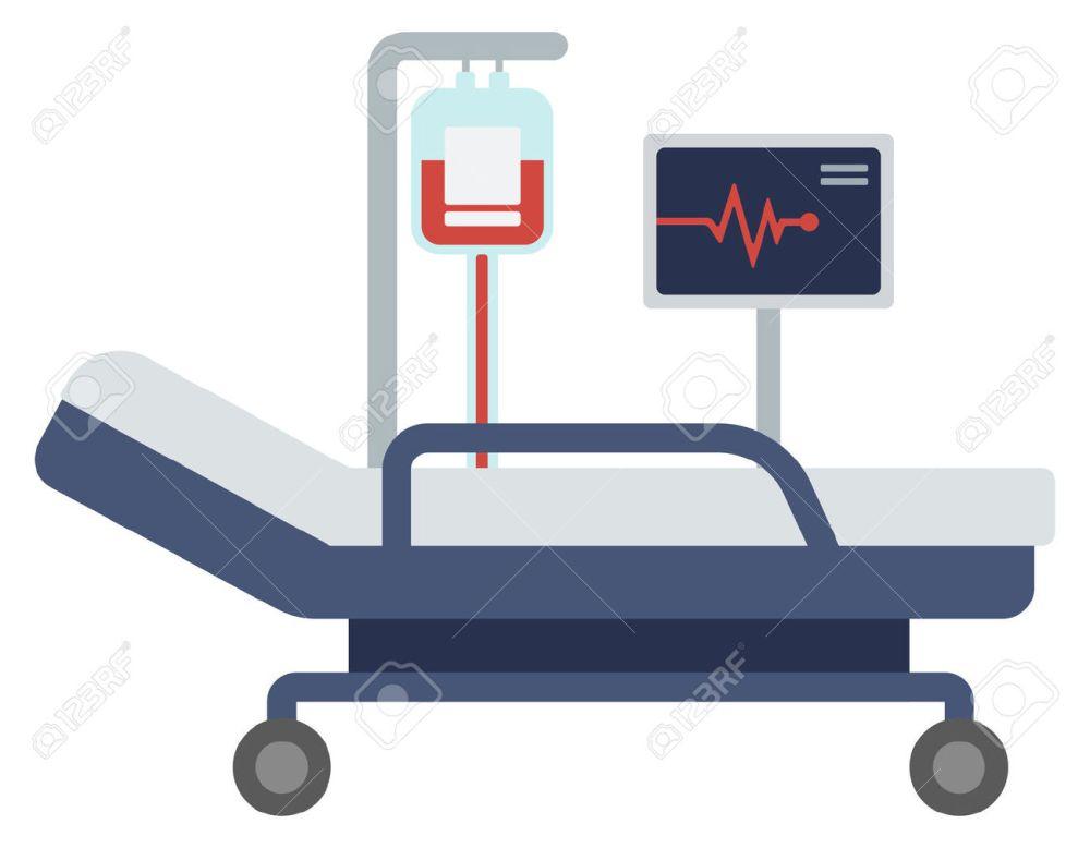 medium resolution of 1300x1012 bed clipart hospital