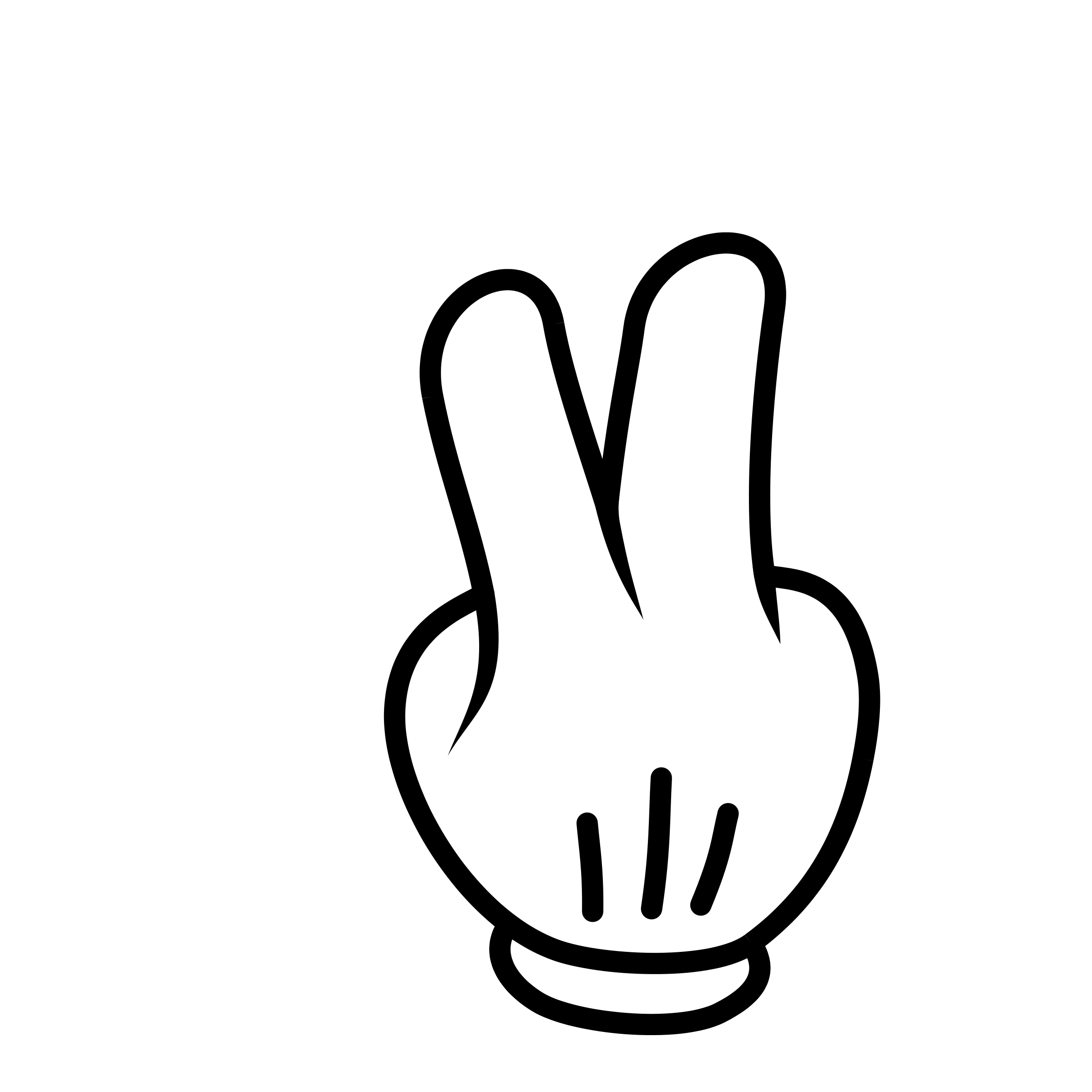 Cartoon Peace Sign Hand Clipart