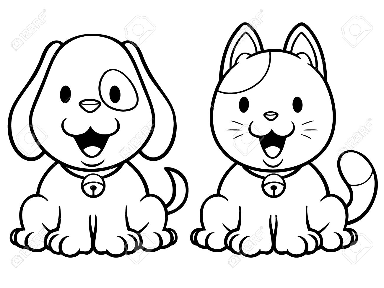 Cartoon Pictures Of Dogs And Cats