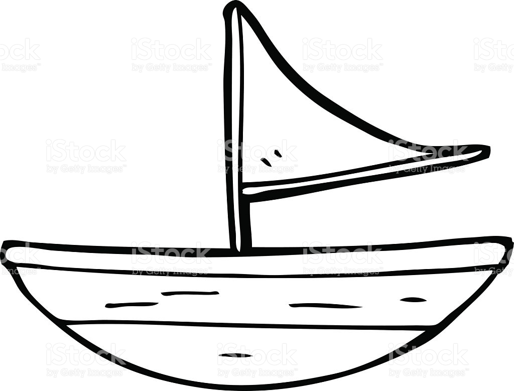 Cartoon Sail Boat