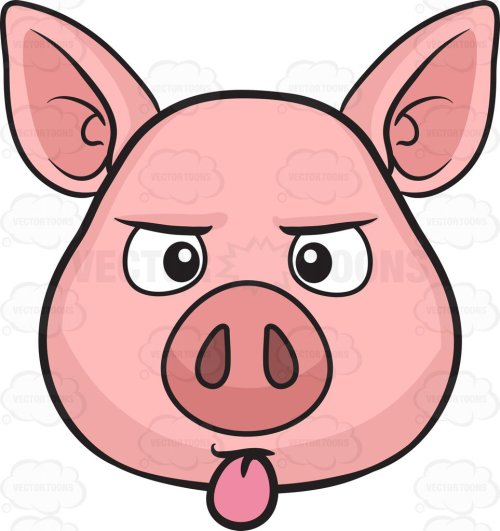 small resolution of 963x1024 a pig sticking out its tongue cartoon clipart