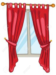 curtains cartoon clipart animated window vector curtain open wooden clipartmag inside graphicriver royalty clipground illustration slingshot weapon transparent cliparts graphics