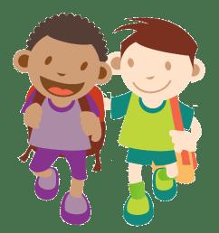 1125x1125 kids walking clipart [ 1125 x 1125 Pixel ]