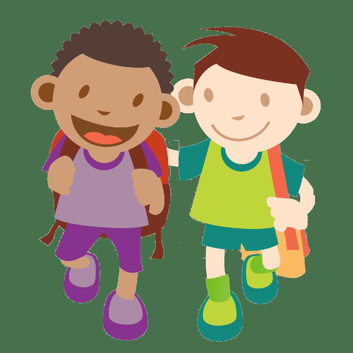 hight resolution of 1125x1125 kids walking clipart