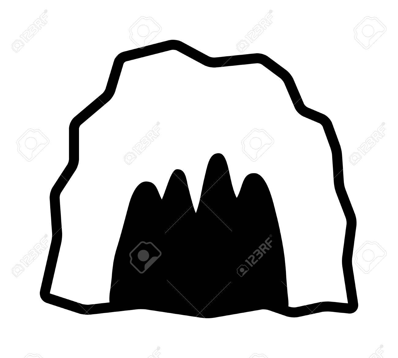 hight resolution of 1300x1170 cave cavern animal den or dungeon line art vector icon