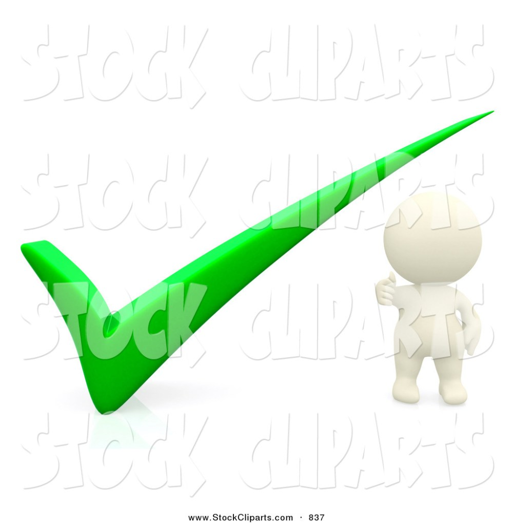 medium resolution of 1024x1044 3d clip art of a 3d teeny person with a green check mark by