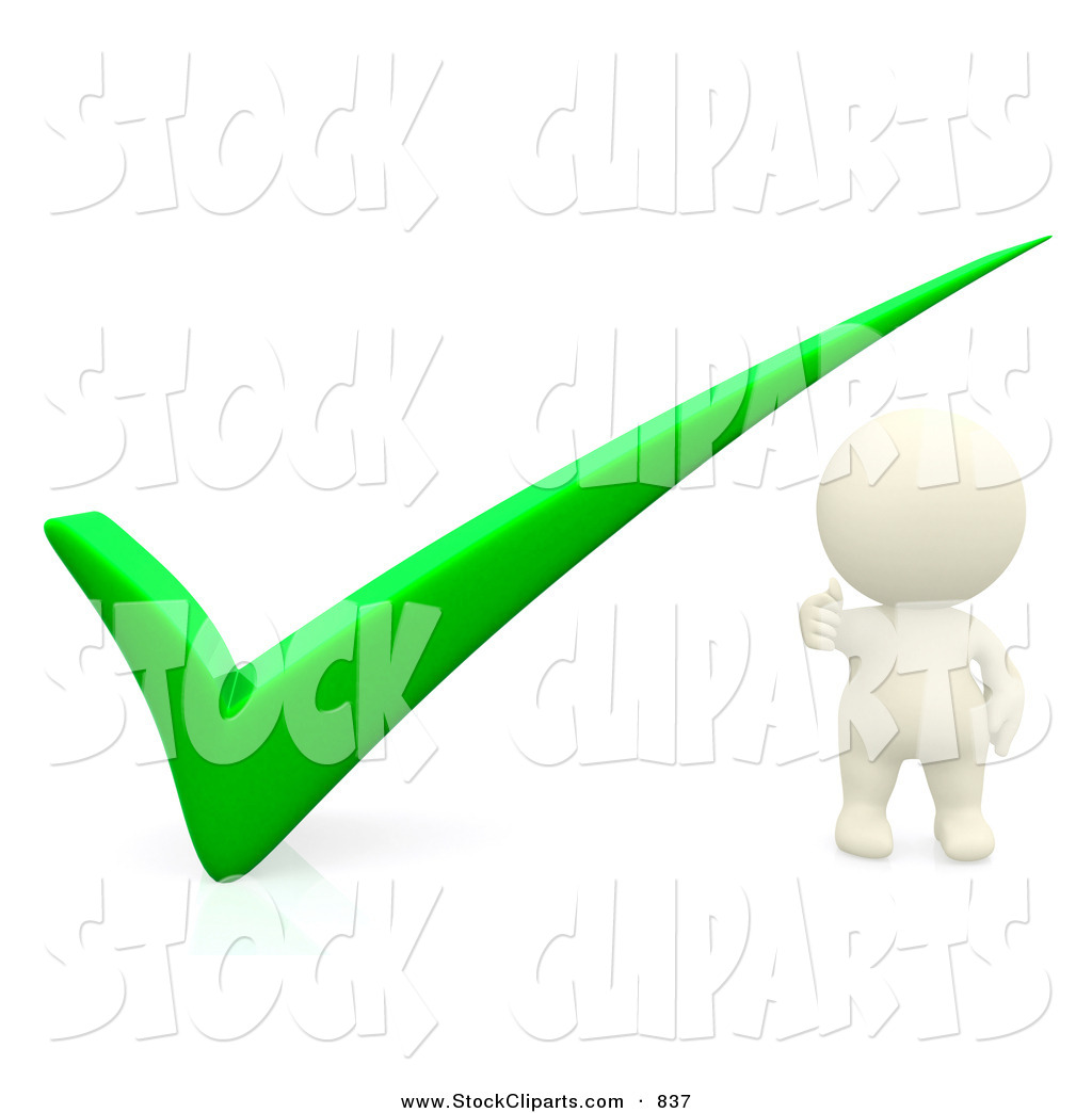 hight resolution of 1024x1044 3d clip art of a 3d teeny person with a green check mark by