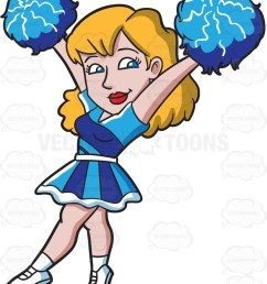 863x1024 a sexy cheerleader carrying pompoms cartoon clipart [ 863 x 1024 Pixel ]