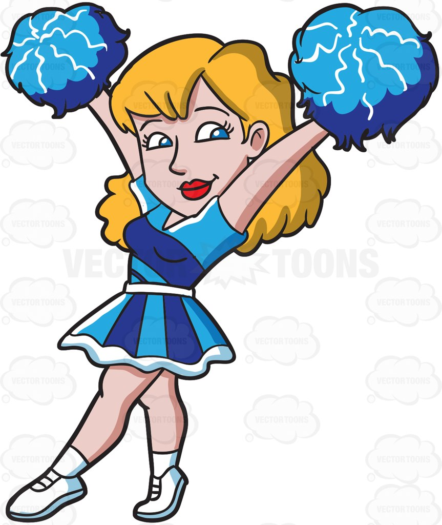 hight resolution of 863x1024 a sexy cheerleader carrying pompoms cartoon clipart