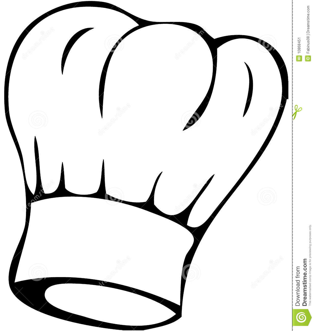 Chef Hat Clipart Black And White