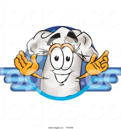 1024x1044 royalty free cartoon vector logo of a chef hat mascot within blue [ 1024 x 1044 Pixel ]