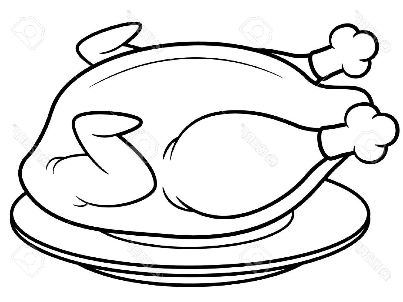 Chicken Black And White Clipart