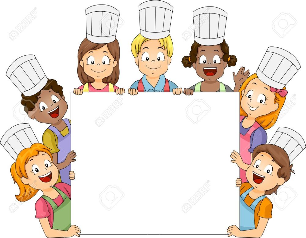 medium resolution of 1300x1012 clipart children cooking