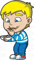 clipart eating children sweets eat clipartmag
