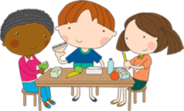 lunch eat eating clipart snack children dinners transparent right