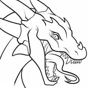 dragon drawing chinese simple draw clipartmag