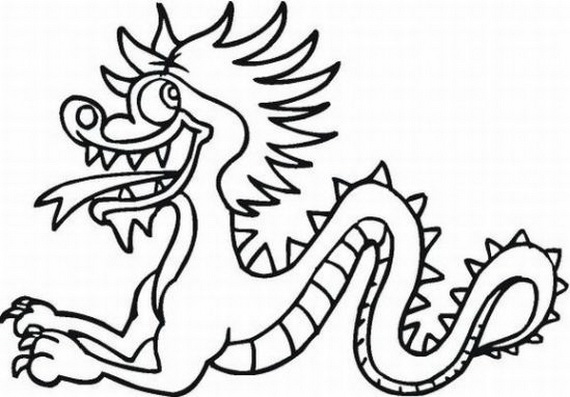chinese dragon outline free