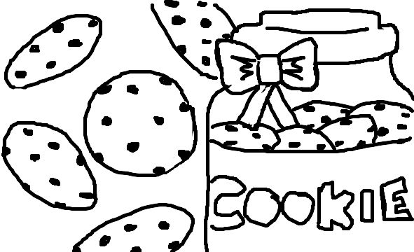 20+ Cookies As A Coloring Page Ideas and Designs
