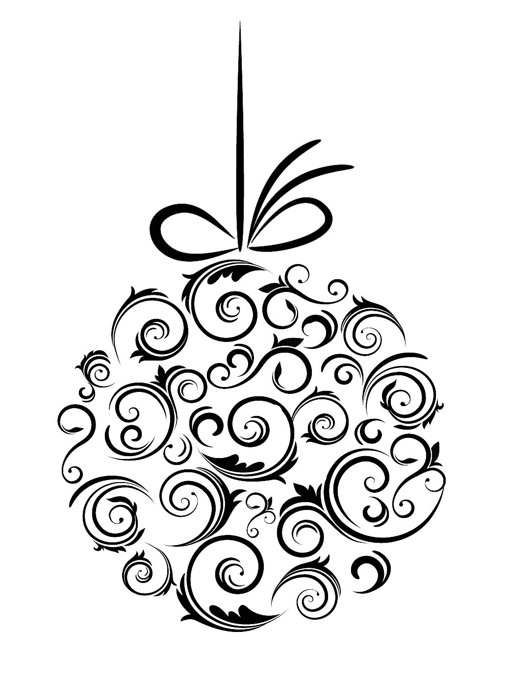 Christmas Clipart Black And White Free