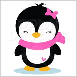 penguin christmas clipart winter cute penguins baby girly holiday clip silhouette animals party birthday clipartmag pinguinos drawings cartoon visitar private