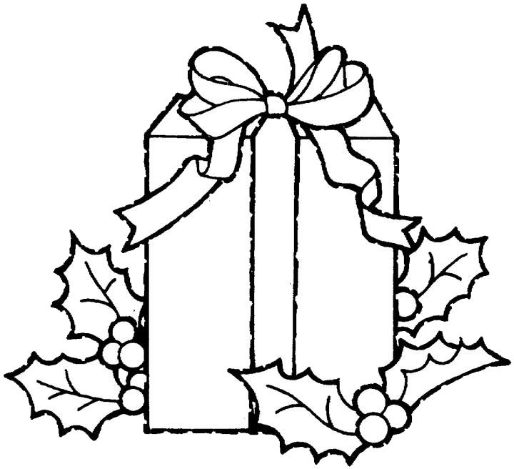 Christmas Gifts Coloring Pages Printable