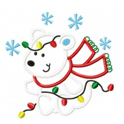 polar bear christmas applique clipart designs clip lights bunny bugs happytownapplique outline navidad tree embroidery machine oso clipartmag getdrawings