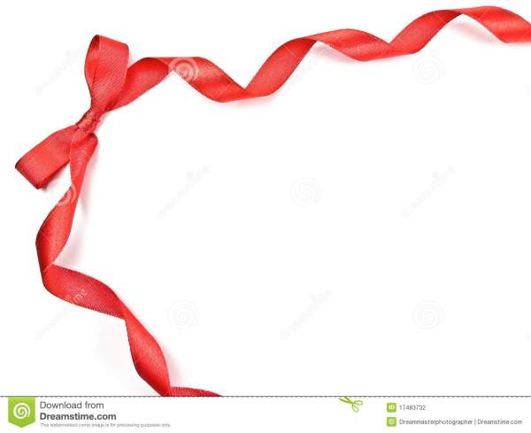 christmas ribbon border clipart
