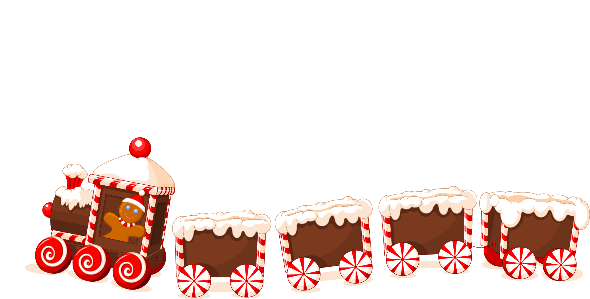 hight resolution of 3118x1584 christmas cookies train png clipart