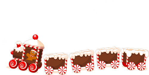 small resolution of 3118x1584 christmas cookies train png clipart