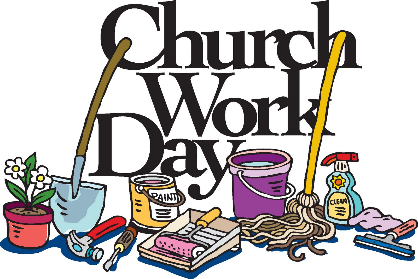 hight resolution of 1600x1069 church clean up day clip art
