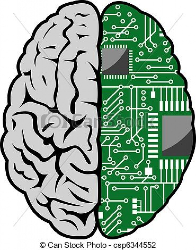 medium resolution of 806x1024 computer brain clipart computer brain clipart vector illustration
