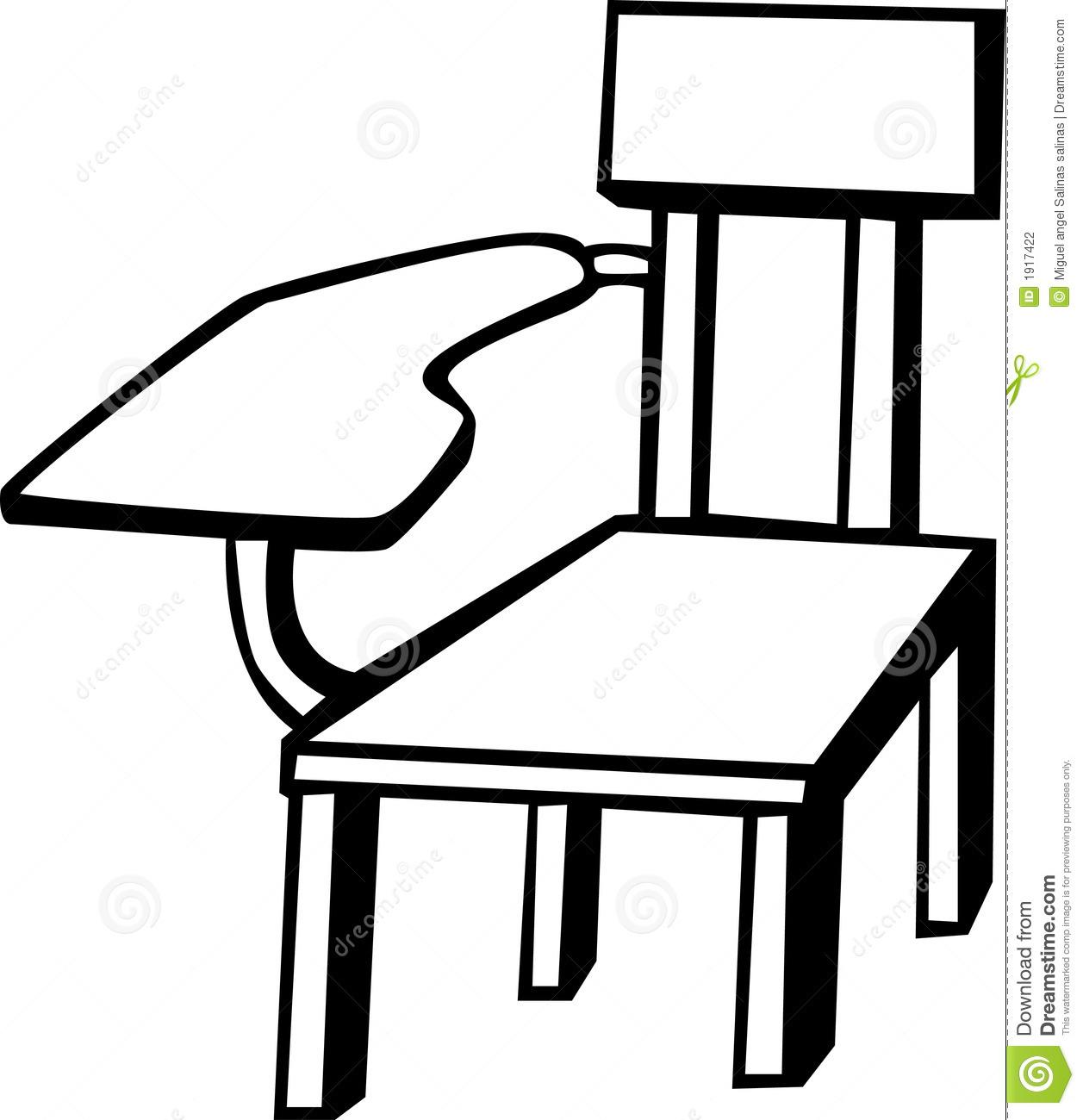Classroom Desk Clipart