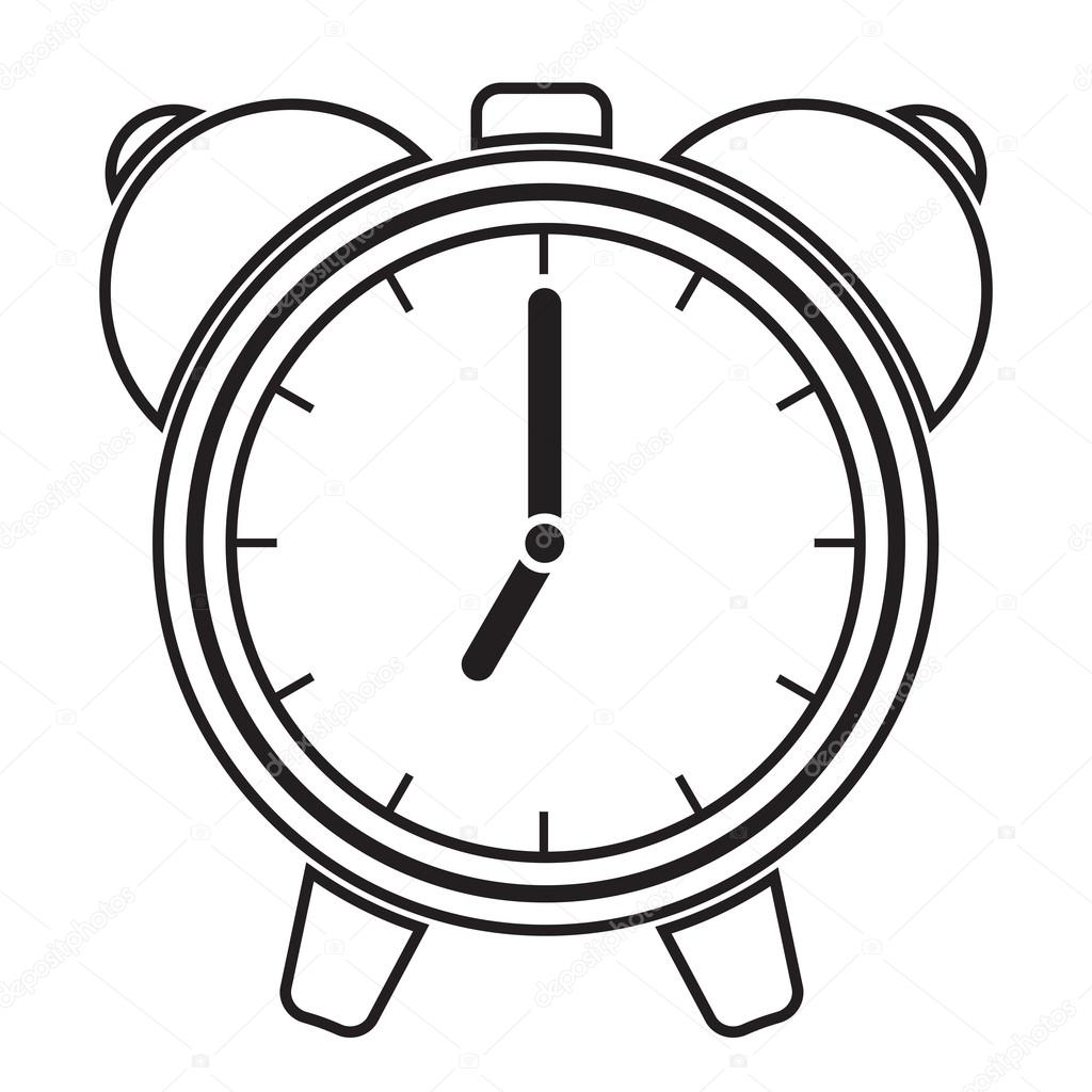 Clock Black And White Clipart