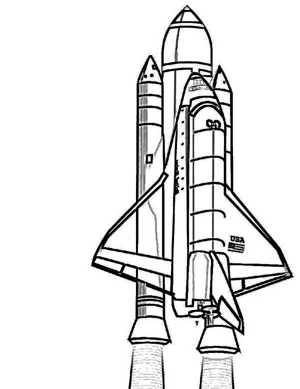 Space Shuttle Ausmalbild - Ausmalbilder