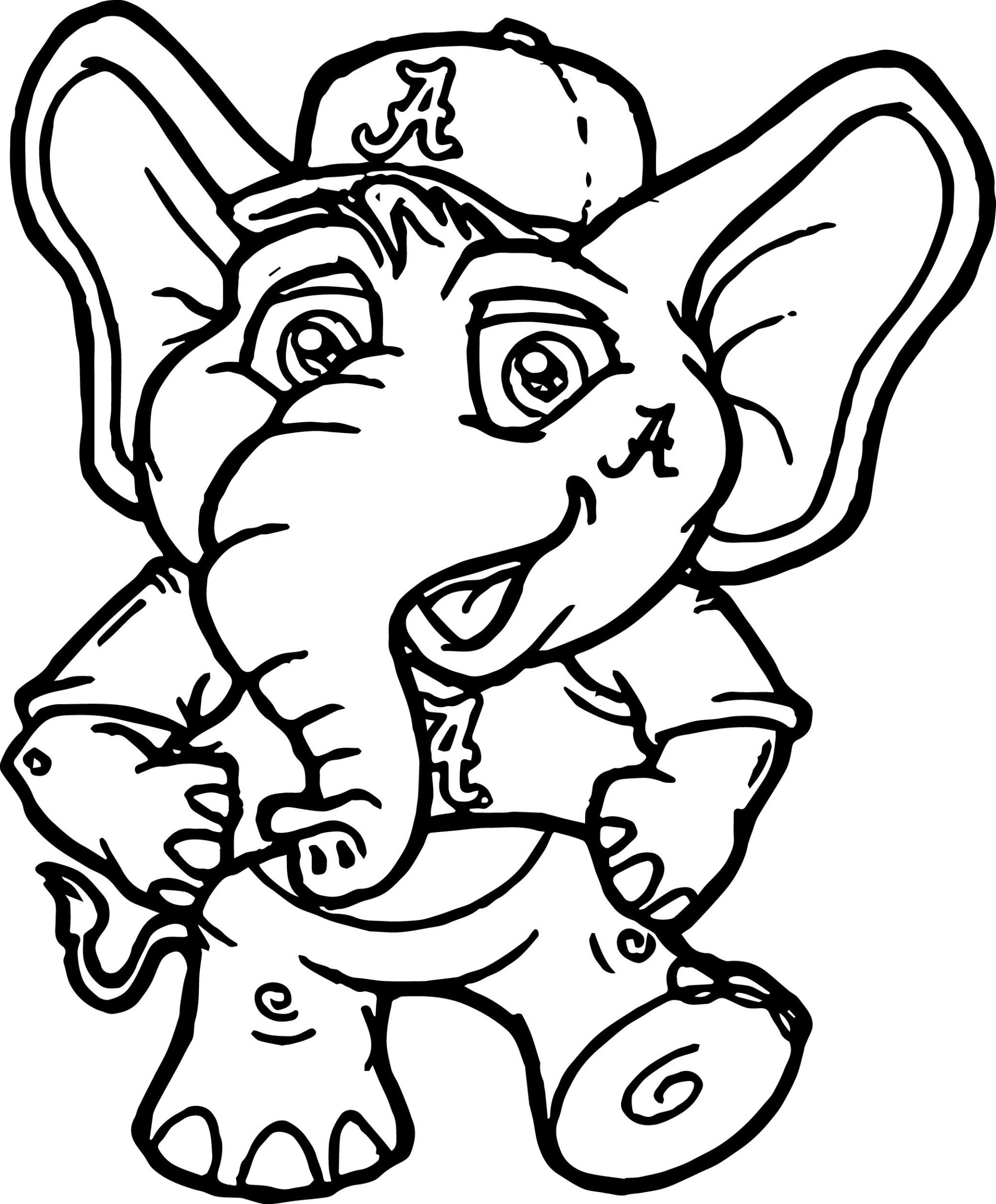 hight resolution of 2080x2515 alabama clipart university of alabama a text coloring page color