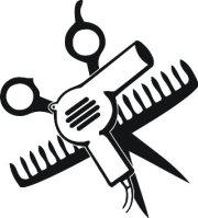 comb and scissors clipart free