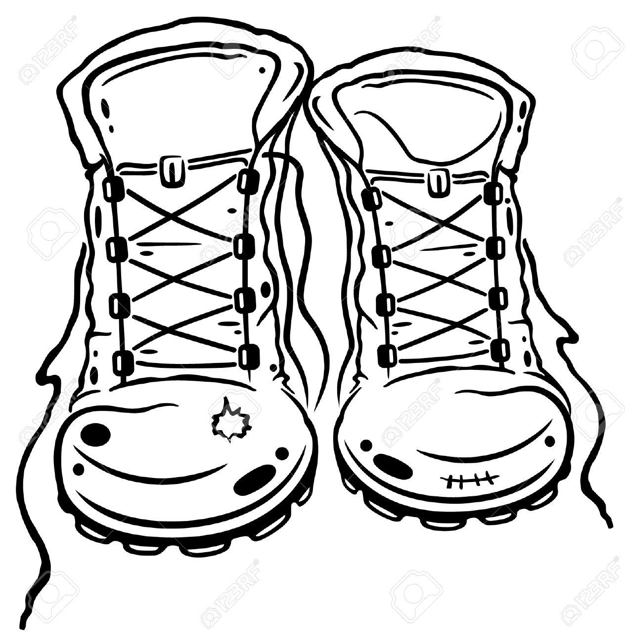 Army Boot Print Clip Art