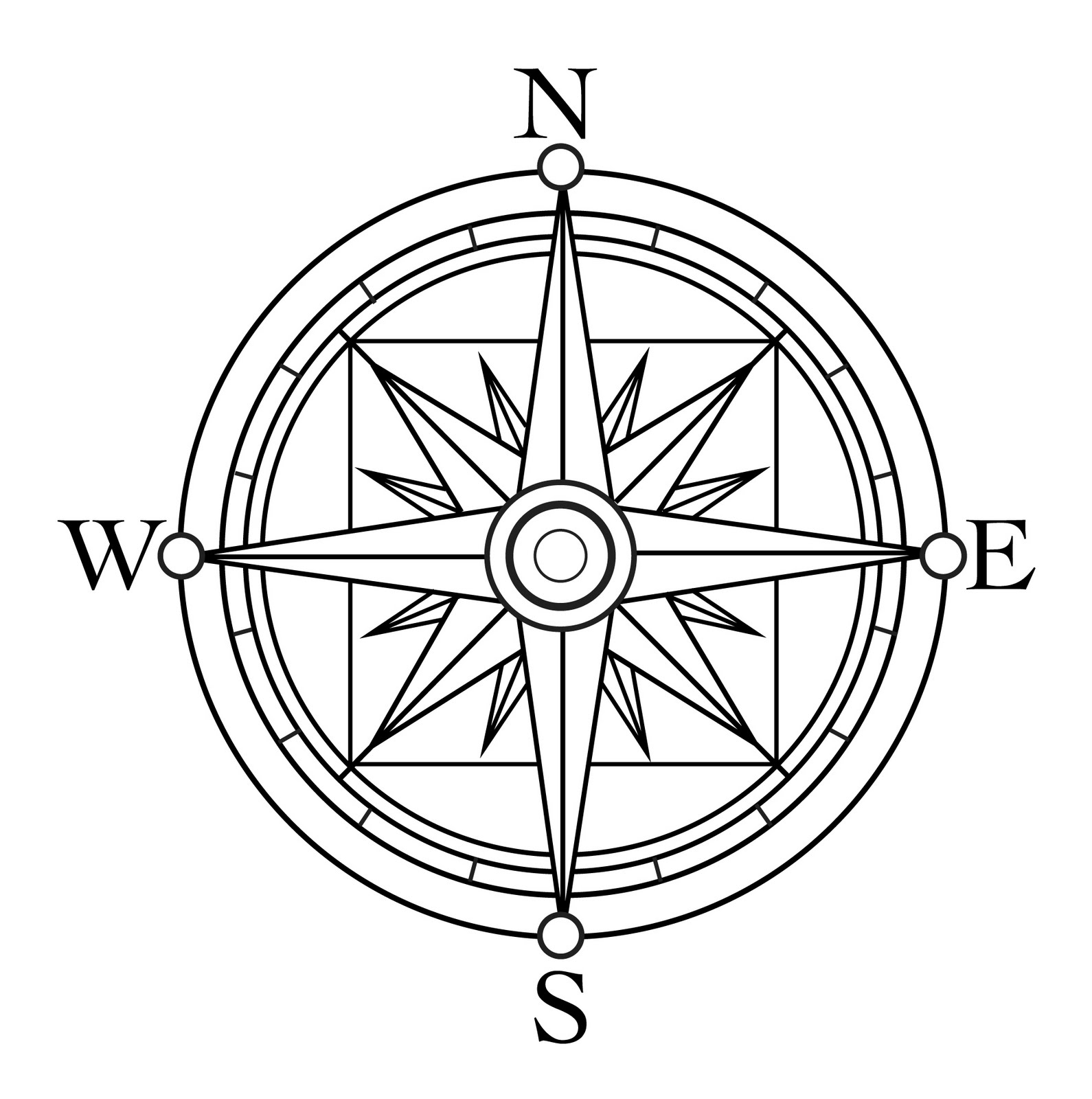 Compass Rose Pictures For Kids