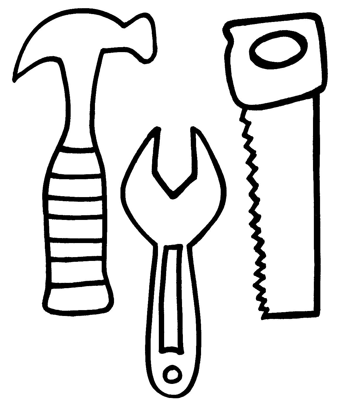 Construction Tools Coloring Pages