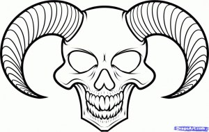 cool drawings easy skulls clipartmag