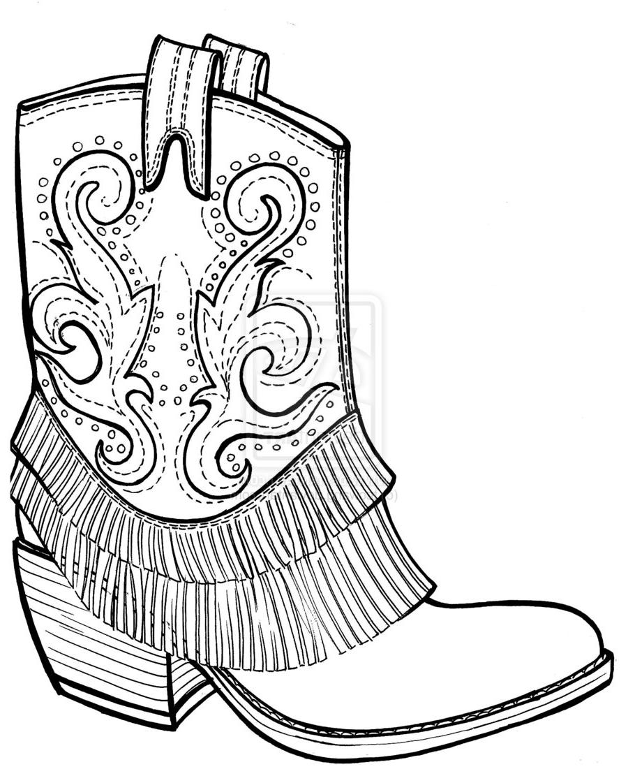 hight resolution of 900x1121 top pics of black and white cowboy boots coloring pages clipart photos